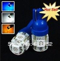 Freeshipping 24months blue signal led T10 5SMD 5050 Fog Light Automotive Led Auto Bulb,Led Auto Lamp,Led Car Lighting