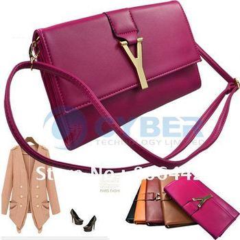 "New Arrival Hot Fashion Korea Women's "" Y "" Letter Envelope Purse Clutch PU Leather Shoulder Bag"