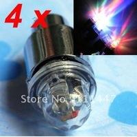 Free Shipping 4pcs/lot 7 colors wheel flash light  LED Flash Tyre Wheel Valve Cap Light ,LED Wheel Light