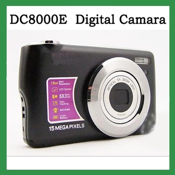 "free shipping Winait's DC800OE Black 15 MP MAX/2.7"" TFT LCD digital camera with 5X optical zoom,Camera digital , camera recorder"