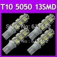 Freeshipping 24months white nidication light T10 13 LED 5050 Automotive Led Auto Bulb,Led Auto Lamp,Led Car Lighting