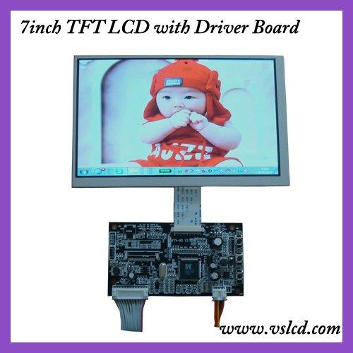 VGA+AV+OSD tft VGA driver board HCR-N1 V2 +7inch tft lcd module with 800x480 resolution AT070TN83V.1 for car DVR(China (Mainland))