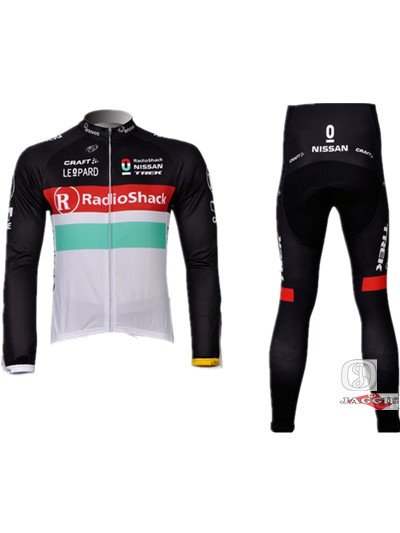 Free shipping+Polyester+COOLMAX+2012 red R radio shack Cycling LONG SLEEVE JERSEY+PANTS+bike wear/riding wear/bicycle apparel(China (Mainland))