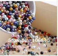 1000pcs/bag  glass Imitation created pearls  beads 4MM Free shipping Wholesale