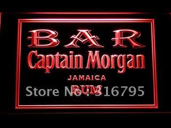 490-r BAR Captain Morgan Rum Neon Light Sign