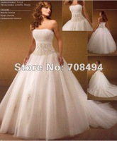 Свадебное платье 100% custom-made 2012 sweetheart lace up back appliques ruched 6 hoop skirt bridal wedding dress-Perfect Gowns