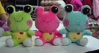 Hot!Free Shipping Good Service Wholesale 60 pcs/lot 4 Type Plush Baby Toy Promote Gift Stuffed Doll Cute & Lovely Colorful Frog