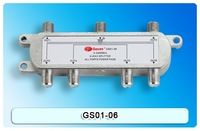 Satellite Splitter, 6 way splitter, catv splitter, GS01-06, 5-2400Mhz antenna splitter, RF Signal Combiner
