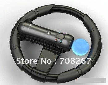 free shipping Steering Racing Wheel for PS3 Move Controller with retail box