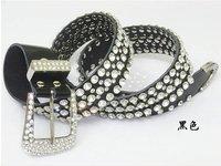 Free shipping cow  leather rhinestone belt, dress genuine leather belt,western women belts.lady rhinstone belt