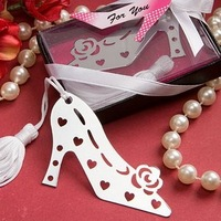 Factory Outlet Wholesale Stylish Book Lovers Collection Shoe Bookmark Favors+100 SETS/LOT+FREE SHIPPING(RWF-0013U)