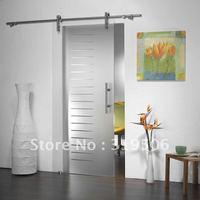 framless barn door hardware glass sliding door gear with free shipping