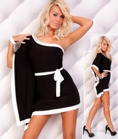 Crazy, Cpam! Fashion Dress, Clubbing Dresses, Black/White/Red Color, One size, DL2240b