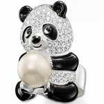 Free shipping wholesale  and dropshiping sterling silver panda pearl    finger ring   hottest sale THSR28