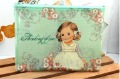 Free Shipping/New paper doll girl A5 Size coin bag/lovely pencil bag/ 4 styles/wholesale