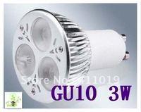 Hot sales !! 3W LED Spotlight 85-265V White LED Lamp GU10 LED Light Bulb CE&ROHS Approved 50pcs/lot