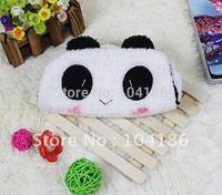 3PCS Kawaii Plush Fluffy Panda Pen Pencil BAG Pouch Case Pack ; Pendant Cosmetics & Beauty Pouch Bag Case Coin Purse Wallet BAG