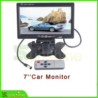 "Wholesale  7"" Color TFT LCD Car Rearview Monitor for DVD Camera VCR ,free shipping + warranty one year"