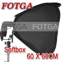 "Wholesale FOTGA 24"" Portable 60cm Softbox Soft Box for Flash Light Speedlite Photo Speedlight"