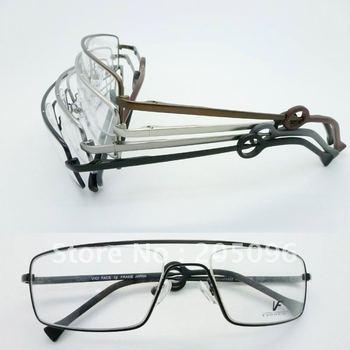 Wholesale VF6403 stainless steel big bending degree no welding Conjoined full-rim prescription eyeglasses frame free shipping