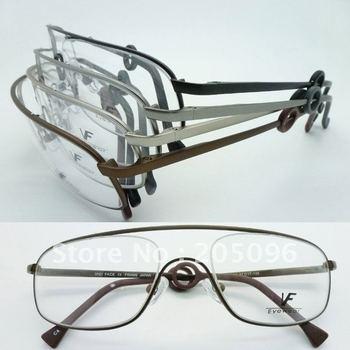 Wholesale VF6404 stainless steel big bending degree no welding Conjoined full-rim prescription eyeglasses frame free shipping