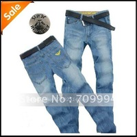 2013 Men's popular jeans Fashion Brand new designer classic pants comfortable trousers   free shipping