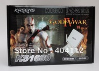 Free shipping!2012 High Power  Kasens 1680 God of War 4 wifi wirelress adapter 68DBI Panal Antenna 6000MW 8187L