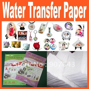 A4 Size white Water-based Ink-jet Water Transfer Paper,Decal Paper FREE SHIPPING