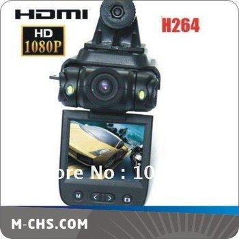 Free Shipping H.264 4X Digital Zoom Full HD 1080p Car black box