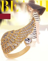 wholesale  Factory Price! new arrive, Free shipping . fashion jewellry ,on sale cheap  Angel wings opening ring crystal  ring