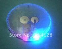 promotion! Ultra-thin circular luminous coasters red&blue color gradient LED flash coaster 35PCS free shipping