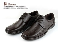 Free shipping 2014, Leather, Business, Everyday,Casual Men's Shoes,Lace up,  Flat, Hand, Soft Bottom