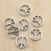 140pcs antiqued silver little peace design charm G1228