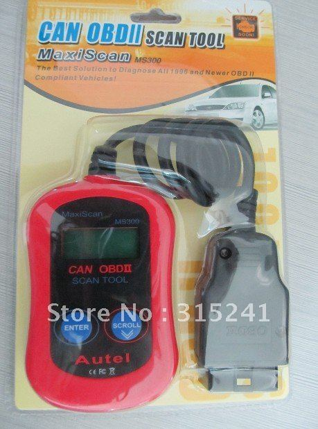 10 pieces/lot Autel MaxiScan MS300 Code Reader Tool CAN OBD2 OBDII scan tool --on promotion 2012(China (Mainland))
