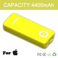 2012 Hot Selling!!! 4400mAh Portable emergency mobile phone charger  with LED flashlight fit for iphone, IPAD, IPOD