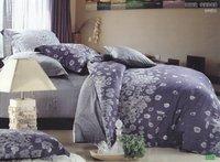 Hot Fashion New  Beautiful 100% Cotton 4pc Doona Duvet QUILT Cover Set bedding set Queen/  King size Bluish violet