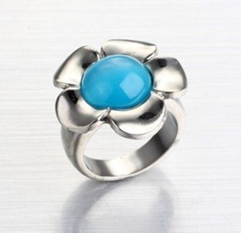 Flower Wholesale on Wholesale Stainless Steel Ring Fashion Stainless Steel Diamond Ring
