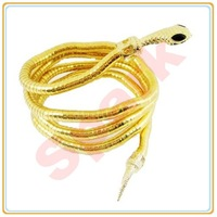 35.44' Multiple Use Flexible Snake Bracelet Gold Plated Bendy Snake Necklace Min $10 Can Mix Free Shipping