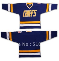 Customize SHOT movie Charlestown CHIEFS hockey jersey -BLue any size  any number any name Mix order