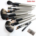 18 pcs/kit makeup tool kits high quality SABLE hair professional makeup brushes, Free Shipping