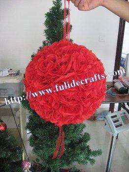 70cm red foam center kissing decoration artificial flower ball