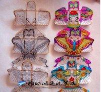 free Shipping high quality  new blank kite 10pcs/lot diy kids teaching painting kite Chinese traditional kite lighted kites