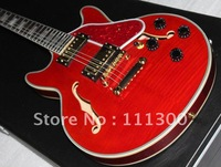 Musical instruments very beautiful Hollow Body red cherry electric guitar