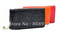 Fashion wallet sweet and elegant ladies cowhide wallet 10 pcs/lot free shipping guaranteed 100%