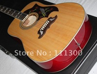 very nice plum blossom NEW DOVE Natural Acoustic electric Guitar