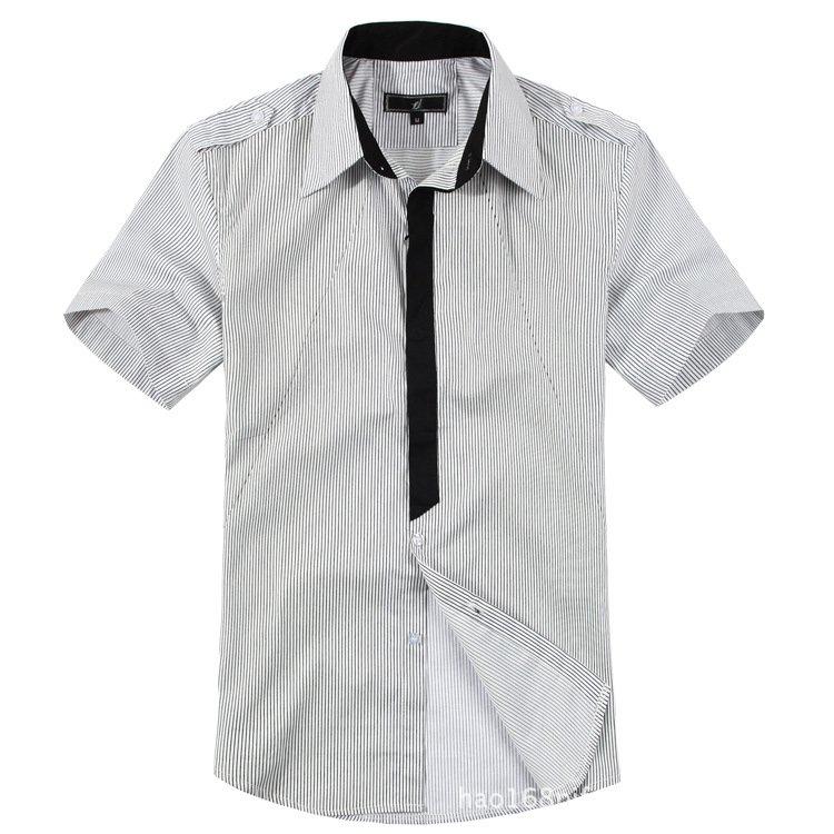 Free Shipping Fashion Plaid Men 39 S Shirts Short Sleeve
