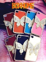 3D Butterfly Diamond Case for iPhone 4 4S Case for iphone. For iPhone bling Case cover. Mix different colors.Free Shipping