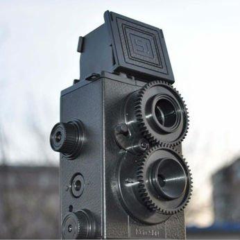 Vintage Style Black Film DIY 35mm Twin Lens Lomo Reflex Camera LOMO Camera