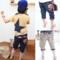 2010 new  Boy's Car embroidered plaid flange cotton pants wild pants