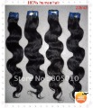 22inch Free shipping Boday Wave Natural color Virgin Brazilian Hair Extension 1pcs/lot  color:1B 1# 2# wholesale 100% human man